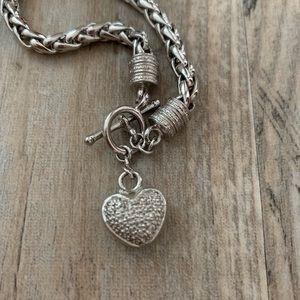 Jewelry - ✨ Silver Heart Pendant Bracelet